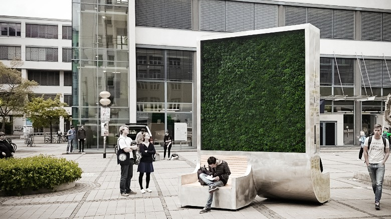 "A ""CityTree"" that is like a Green Wall"